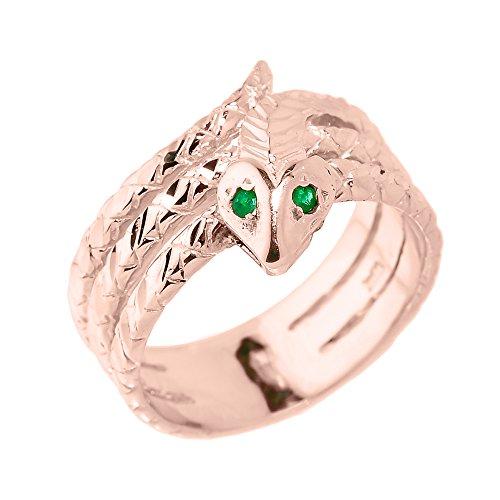 Piccoli Tesori - Anello Donna 10 ct Oro rosa 471/1000 Diamante serpente
