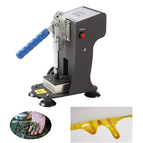 InLoveArts Heat Press Machine for Rosin 2x3 inch Máquina de Colofonia Máquina de prensa de calor, doble placa de aluminio prensa de calor con 1000lbs de presión máxima 220V (3g cada vez)