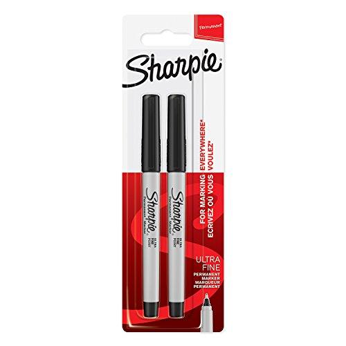Sharpie 1985878 Lot de 2 Marqueurs Permanents Pointe Ultrafine Noir
