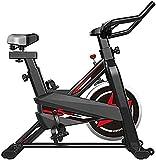 WGFGXQ Inicio Bicicletas estáticas Bicicletas de Ciclismo Indoor Profesionales Equipo Deportivo Fijo con función de frecuencia cardíaca Manillar y Asiento silenciosos Bicicleta de Fitness Ajustable