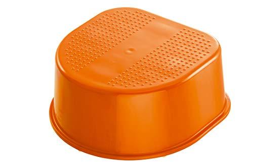 Rotho Babydesign Tabouret, Surface et Pieds Antidérapants, Bella Bambina, Mandarine Pearl (Orange), 200240206