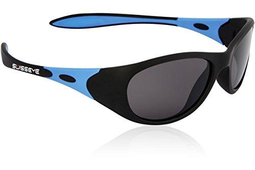 Swiss Eye Kinder Kindersportbrille Toddler, Black Matt/Blue