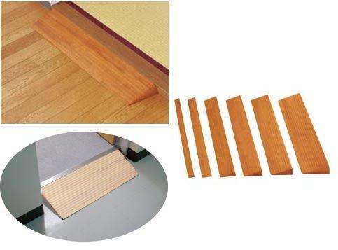 木製段差解消スロープ H20×71×800mm 敷居等に 室内用スロープ バリアフリー ミディアムオーク(01380-13756)
