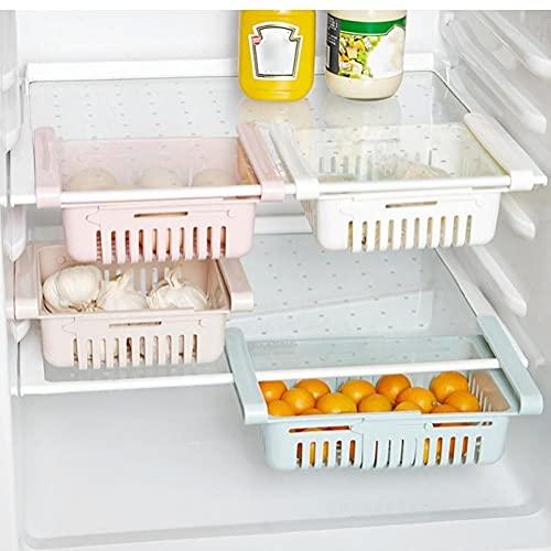Zonster 1pc De Almacenamiento En Rack De Cocina Accesorios De Cocina Organizador Organizador del Estante De Almacenamiento En Rack Refrigerador Estante De Almacenamiento Caja De Color Azar