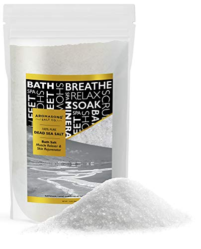 Dead Sea Salt, Mineral Spa Bath Salts, 5 Lbs Fine Grain Large Bulk resealable Pack, 100% Pure & Natural, Used for Body wash Scrub, Soak for Women & Men to Relax Tired Muscles and Treat Skin Issues