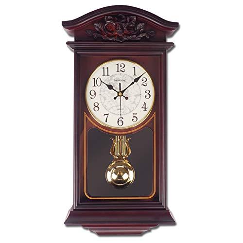 ZHANGNING Reloj de Pared Vintage 20'Péndulo Reloj de Pared Retro Cuarzo Decorativo Reloj de Pared de la batería para el hogar de la Cocina. Reloj de Pared Decorativo (Color : Style 2)