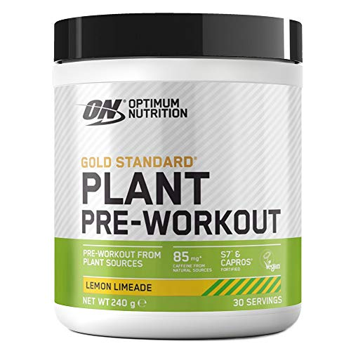 Optimum Nutrition ON Gold Standard Plant Pre-Workout, Vegan Pre Workout Powder Supplement with Caffeine, Lemon Limeade, 30 Servings, 240 g