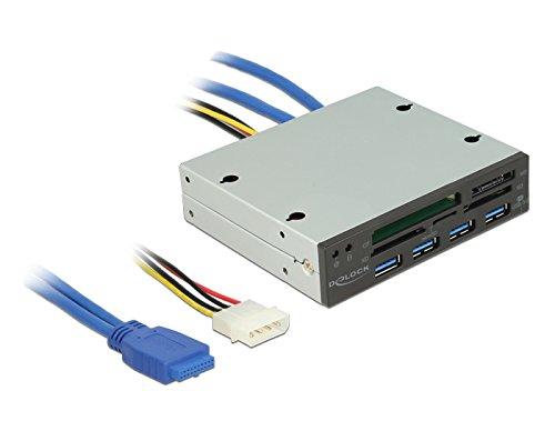 DeLock 3.5 USB 3.0 Card Reader 5 Slot + 4 Port USB 3.0 Hub