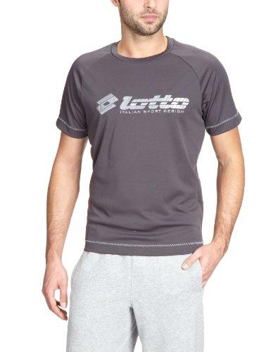 Lotto Sport - Camiseta de Running para Hombre, tamaño XL, Color Hierro