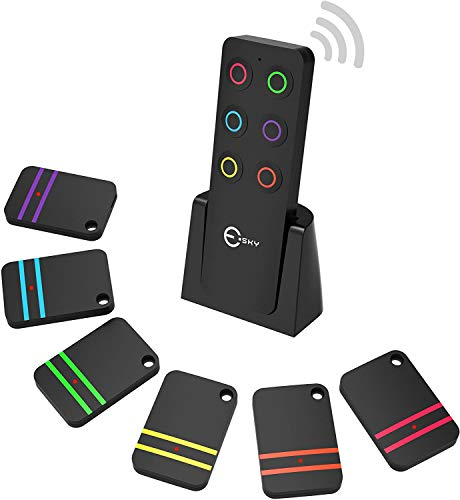 Key Finder, Esky Wireless Key Finders with 6 Receivers RF Item Locator, Item Tracker Support Remote Control, Pet Tracker, Wallet Tracker, Good Idea for Find Your Lost Items