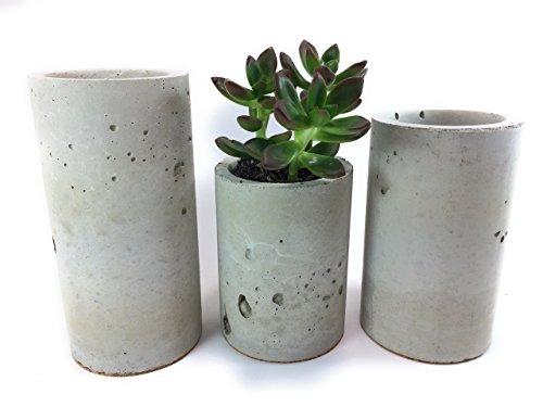 Concrete Succulent Planters/Air Plant Holders. Urba Planters. (set of 3) Natural gray.Cement Succulent pots. Modern Planter set