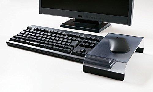 キングジムキーボードトレイマウスパッドマウスブリッジ黒MB-136クロ