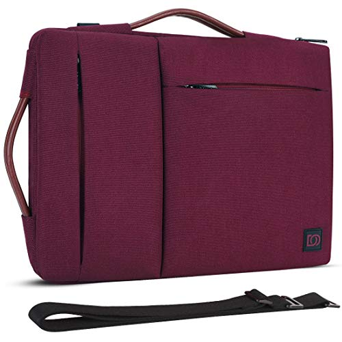 DOMISO 17 inch Laptop Sleeve Case with Handle Water-Resistant for 17.3' Dell Inspiron/MSI GS73VR Stealth Pro/Lenovo IdeaPad 300 320 321/HP ENVY 17/LG Gram 17'/ROG STRIX GL702VS, Fuchsia