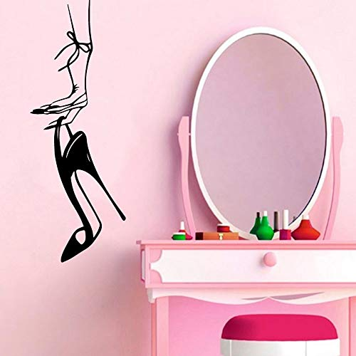 yaonuli Aufkleber Frau High Heels Wandaufkleber Vinyl Wasserdicht Home Decoration Baby Zimmer Wanddekoration 43X15cm