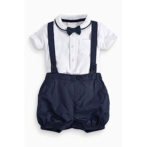 Produktbild Zooarts Infant Baby Jungen Gentleman Fliege Polo Shirt Lätzchen Gürtel Pants Set für 1236 Monate Baby Kinder Kleidung Outfit,  Multi,  80 (12-18months)