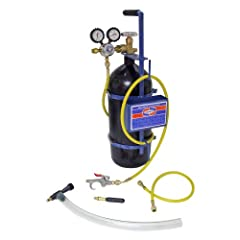The Nitrogen Sludge Sucker and Blaster Kits are specifically designed for multiple uses in the HVAC/R industry ((Tank Not Included – Sold Separately) Nitrogen Regulator with protective rubber gauge boots - Maximum Delivery Pressure up to 175 PSI Purg...