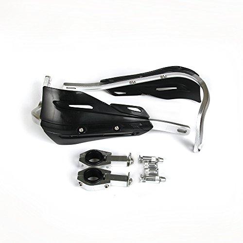 Moto 22mm et 28mm En Aluminium Motocross Main Gardes Protection des Mains avec des Kits de Montage Universels Pour Honda Yamaha Kawasaki Suzuki KTM Dirt Bike Moto MX Racing ATV Quad (Noir)