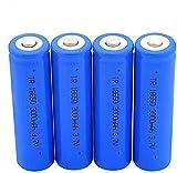4 Piezas En Punta 18650 3.7V 3000 Mah Baterías De Litio Recargables para Linterna Micrófono Radio Banco De Energía Cámara Faros Delanteros Control Remoto