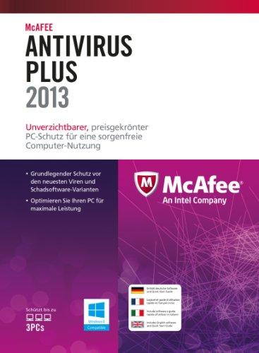 McAfee AntiVirus Plus 2013 - 3 User [import allemand]