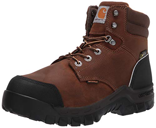 """Carhartt Men's CMF6720 Waterproof Met Guard 6"""" Comp Toe Boot Industrial, Dark Brown Oil Tanned, 11"""
