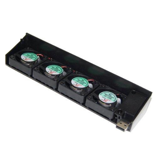 Ventilateur De Refroidissement Quadruple CC 5V USB Pour Consoles Sony PS3 40 Go / 80 Go / 120 Go / 250 Go