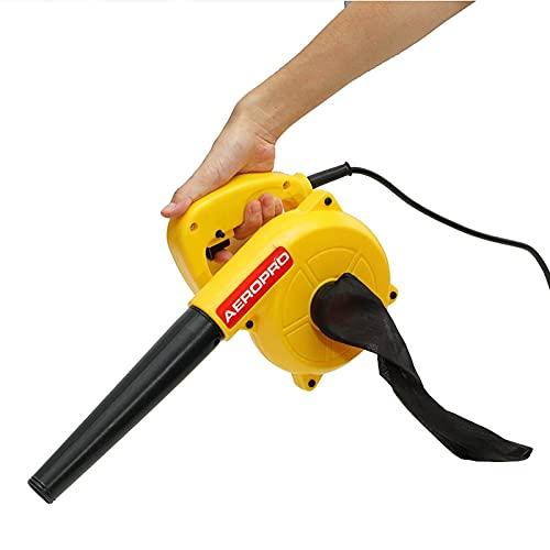 Electrico Soplador Soplador de aire eléctrico y succión Hoja de mano Ordenador Polvo Colector de polvo Limpiador herramienta eléctrica Soplador De Hojas InaláMbrico ( Color : Yellow , Plug Type : B )