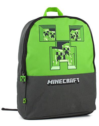 Minecraft Pixel enredadera avance Gris Mochila Niños Bolso de escuela