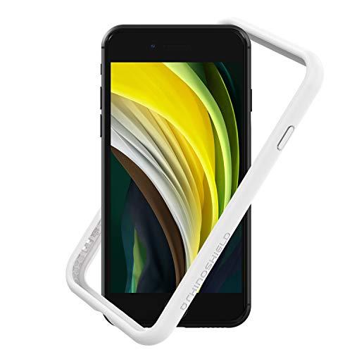 RhinoShield Coque Compatible avec [iPhone SE2 / iPhone SE (2020) / iPhone 8 / iPhone 7] | CrashGuard NX - Protection Fine Personnalisable - Absorption des Chocs [sans BPA] - Blanc