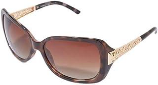 نظارات شمسية للنساء من تي اف ال، مقاس 60 ملم، بني
