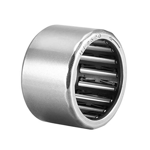 uxcell Needle Roller Bearings, 25mm Bore 32mm OD 20mm Width, Chrome Steel Needles Steel Cage One Way Clutch Bearing