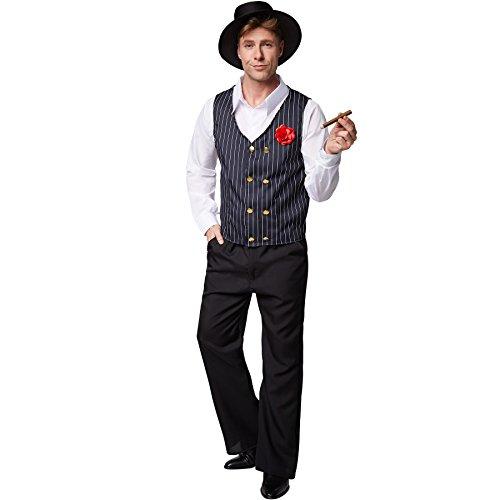 TecTake dressforfun Costume pour Homme Charleston   Chemise à Manches Longues et Pantalon Chic   Y Compris Gilet et Superbe Chapeau (XL   No. 301618)