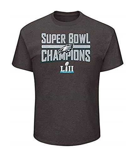 Philadelphia Eagles 2018 Super Bowl Champions Sudden Impact Pro Line Mens Charcoal Grey Short Sleeve Champions T-Shirt NFL AUTHENTIC (XL)