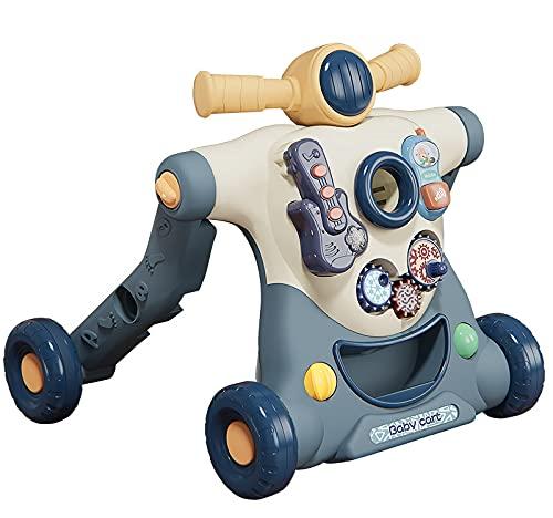 WWJL Juguetes para BebéS Andador para BebéS Andador para BebéS Cochecito Tres En Uno Multifuncional Antivuelco Andador De Empuje Manual 8-18 Mesesjuguetes para BebéS 6 Meses MáS