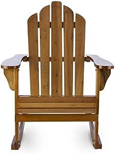 Blumfeldt Rushmore • Sedia a Dondolo Americana • Sedia da Esterni • Seggiola Stile Adirondack • 71 x 95 x 105 CM • Resistente alle Intemperie • Look Vintage • Color Marrone