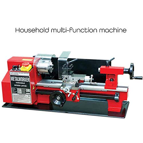 Best Prices! Mini Teaching Metal Lathe, 150W Mini Miniature Metal Lathe Household Multi-functional M...