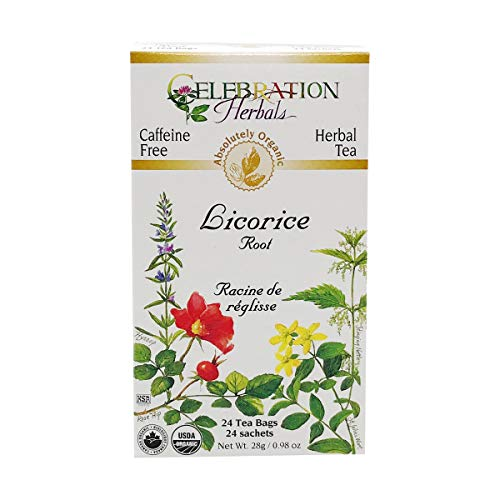 Celebration Herbals, Tea Licorice Root Organic, 24 Count