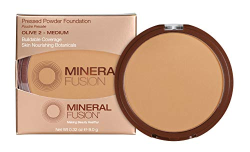 Mineral Fusion Olive 2 Makeup Pressed Powder Foundation By 0.32 Oz (mf1004)