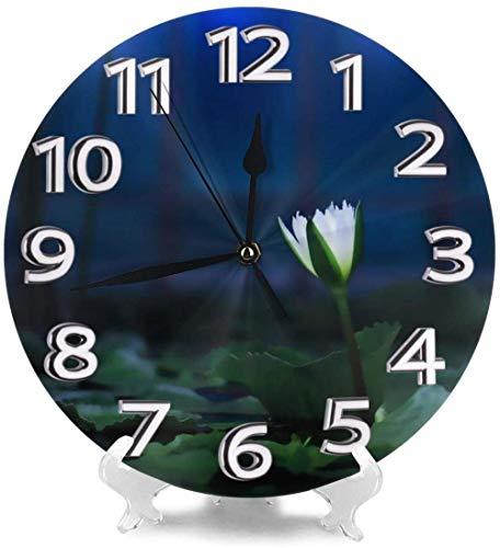 XXNZZJ Co.,ltd Relojes de Escritorio Frescos Azules nocturnos Decorativos para la precisión de la Personalidad de la Sala de Estar del Gimnasio