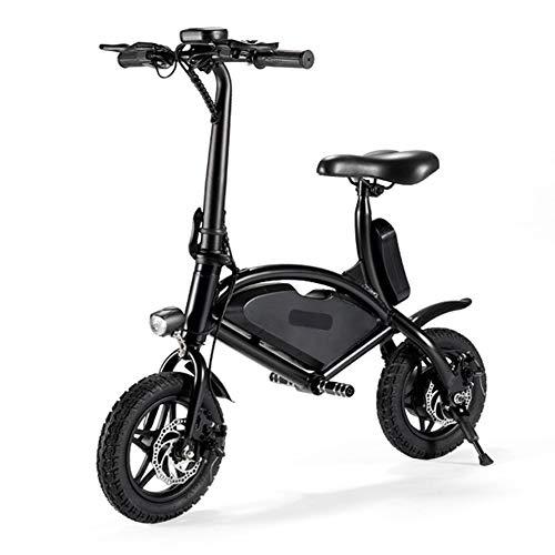 JSL Bicicletta Elettrica Bicicletta Elettrica al Litio Pieghevole da 12 Pollici Scooter Elettrico per Adulti a Due Ruote Motore da 350 Watt Freno a Disco