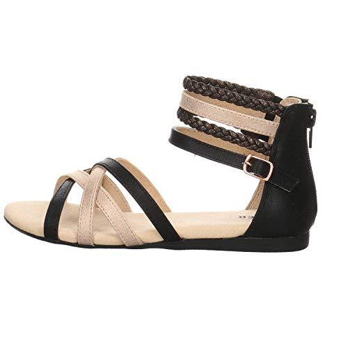 BULLBOXER Aed009 Sandalen/Sandaletten Madchen Schwarz - 32 - Sandalen/Sandaletten Shoes
