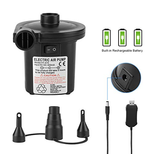 Universal valves 3 pin UK plug. Genuine LeisureKraft Branded Electric air pump inflator//deflator for airbeds paddling pools /& toys