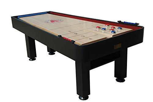 Snap-Back Shuffleboard Metro Model Shuffleboard with Abacus Scoring, 7-Feet/45-Inch, Black
