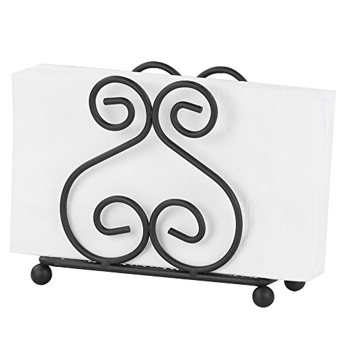 Home Basics NH40914 Black Napkin Holder