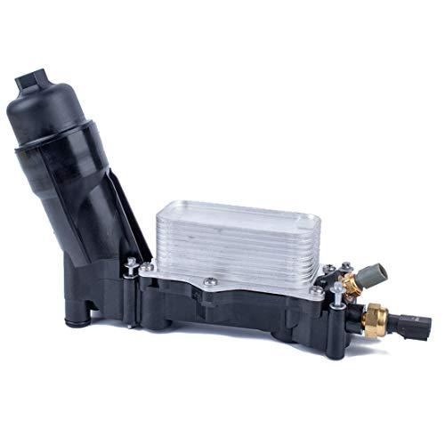 Filtro de aceite del coche carcasa del adaptador de aceite del radiador con el sensor 68105583AF con for Dodge/Chrysler Alta calidad