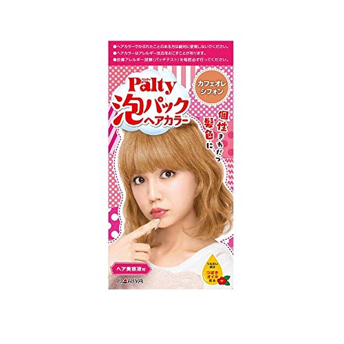 Japan Palty Bubble Color Dyeing Kit, Easy Hair Dyeing Kit Bubble Color Dying Kit, Change Your Hair Color At Home! (Milk Tea Warm 182046)