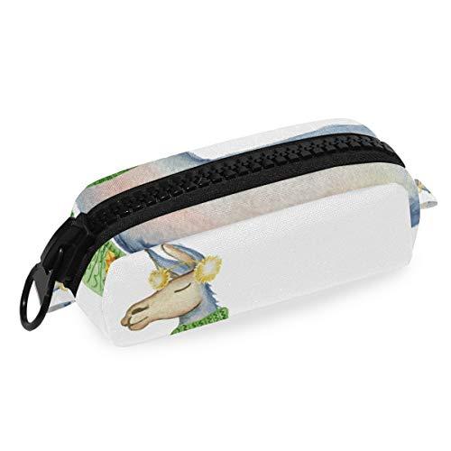DEZIRO make-up tas reizen cosmetische tas Alpaca sjaal Llama voor vrouwen meisjes make-up borstels tas