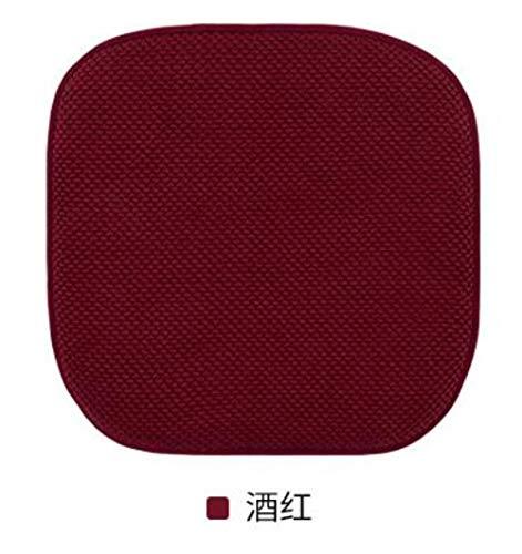 Memory Cushion Foam Coccyx Reisesitzmassage Auto Bürostuhl Schützen Sie gesundes Sitzen Atmungsaktive Kissen, B Rotwein