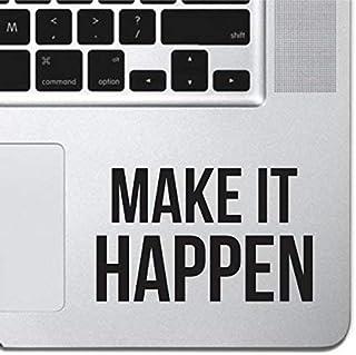 "Make It Happen Sticker Decal MacBook Pro Air 13"" 15"" 17"" Keyboard Keypad Mousepad Trackpad Laptop Retro Vintage Motivation..."
