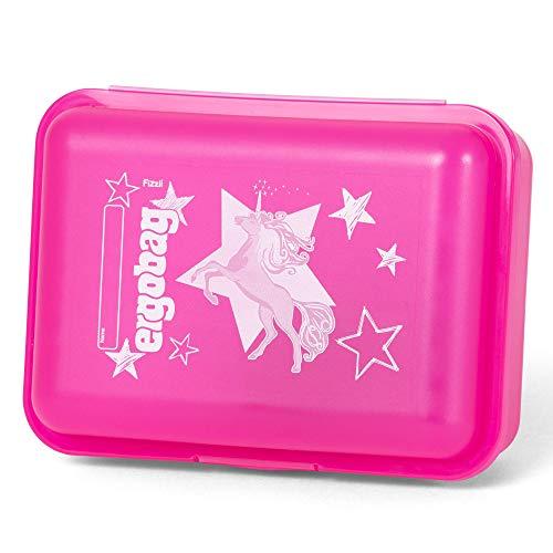 ergobag Brotdose CinBärella, Trennfach für Obst, BPA-frei, Pink