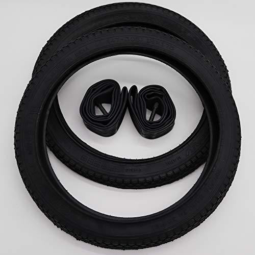 Ralson Black 2x16 Zoll City Reifen + AV Schläuche Decke Mantel Fahrrad Klapprad Anhänger 16x1.75 | ETRTO 47-305 mit 1mm Pannenschutz